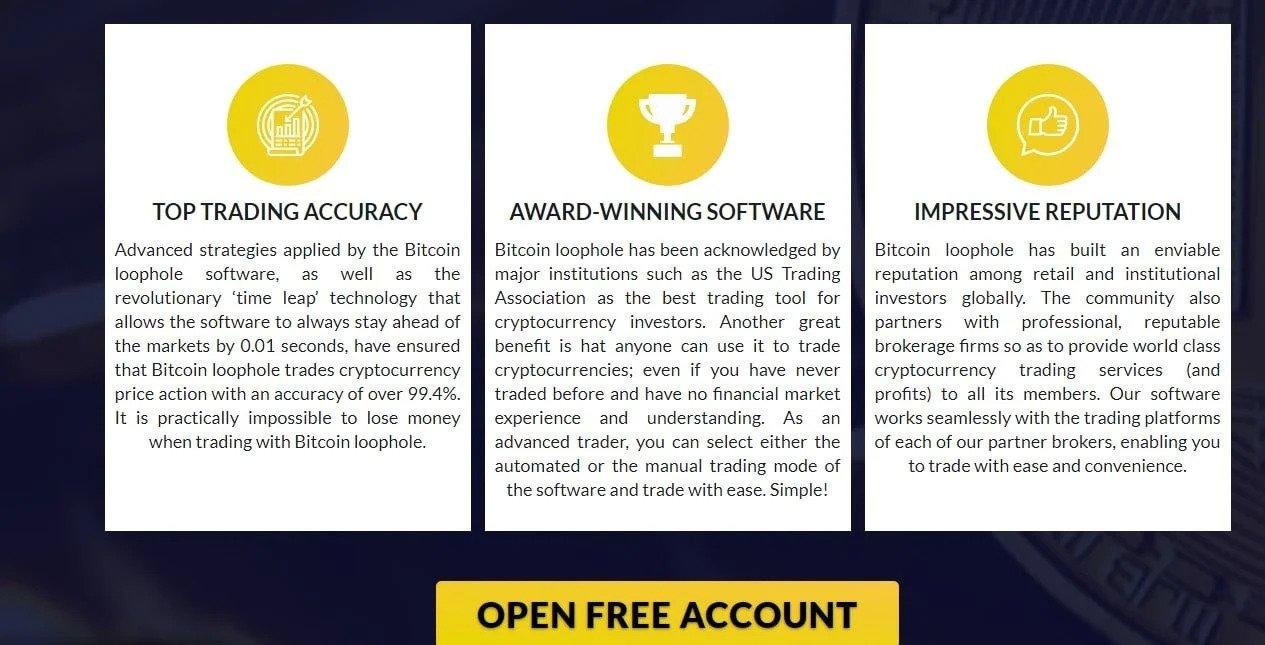 Bitcoin Loophole Reviews– Advantages